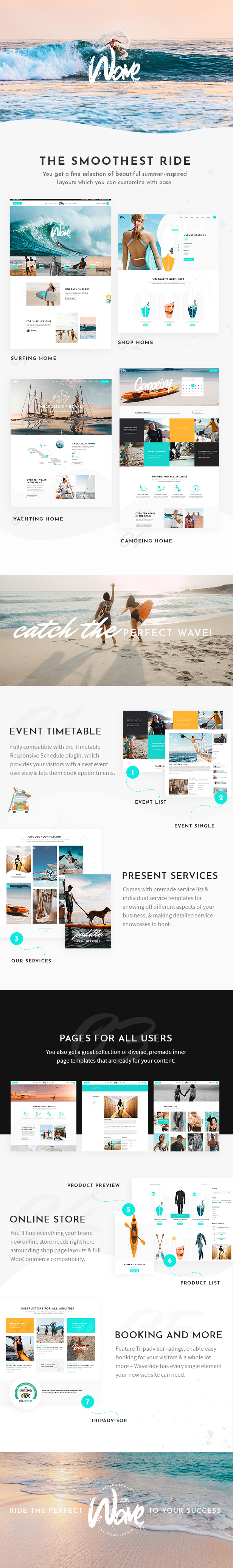 WaveRide - Surfing and Water Sports Theme - 2